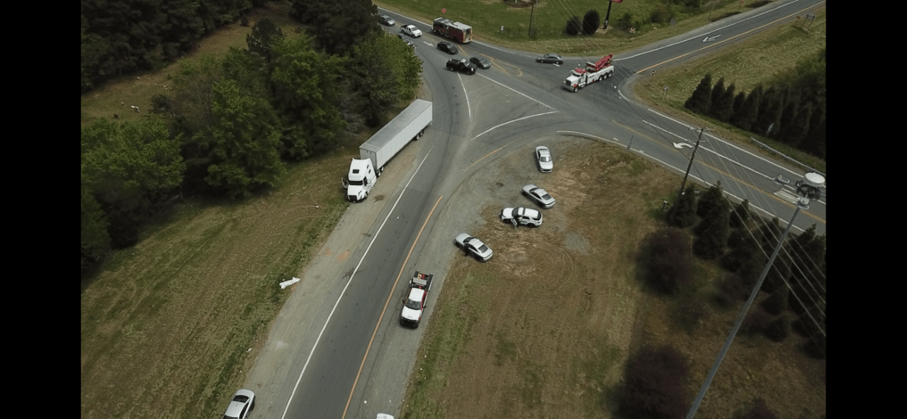 Chase out of Alamance County ends in crash involving tractor-trailer at NC 61, I-40 in Guilford County (Joshua Nagy/WGHP)