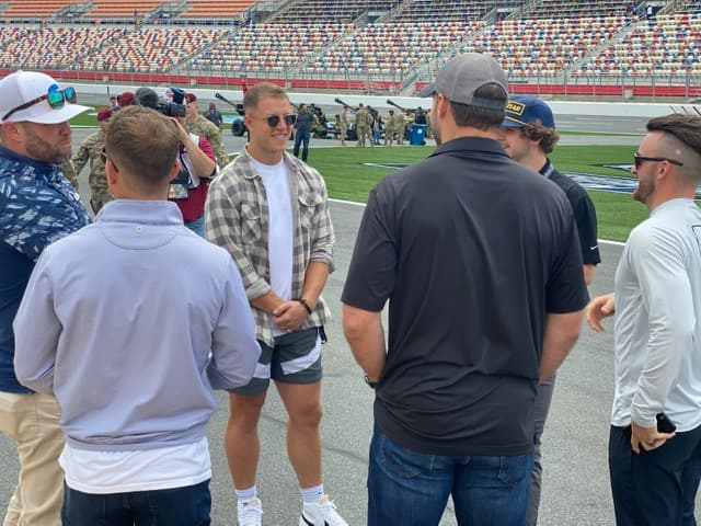 Panthers running back Christian McCaffrey will be the honorary pace car driver at the Coca-Cola 600