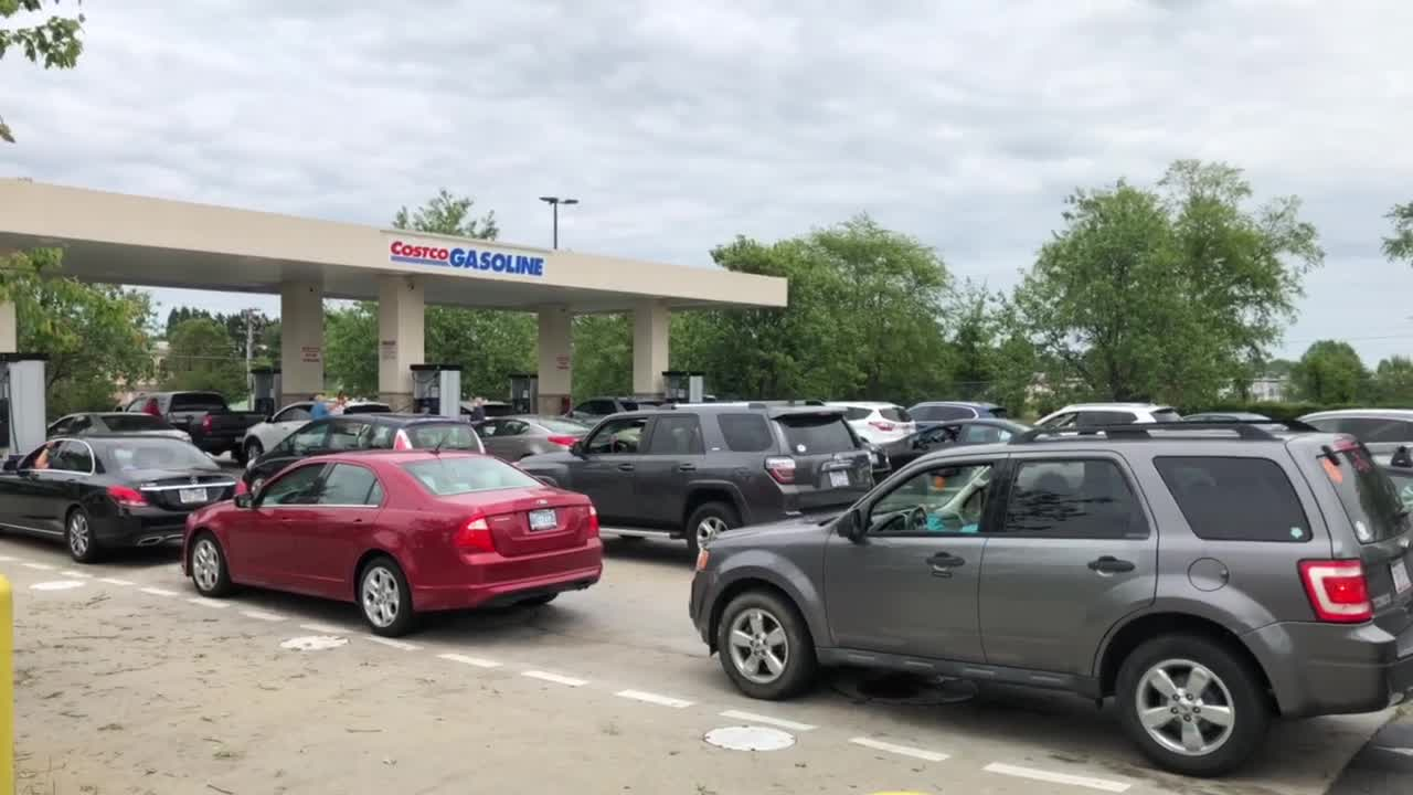 Line for gas at Guilford County Costco stretches out to parking lot; emergency officials say there is no fuel shortage in NC