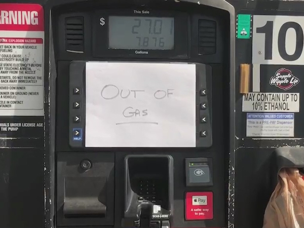 Officials warning drivers against panic buying gasoline amid pipeline shutdown