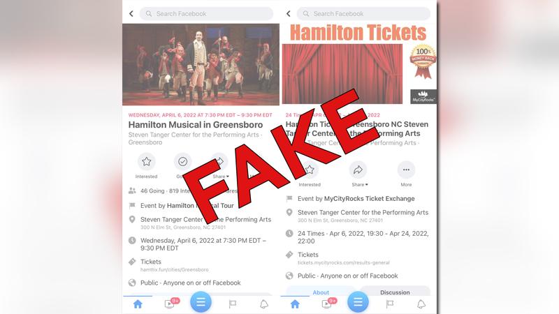Tanger Center warns of fake 'Hamilton' tickets popping up on Facebook (Image courtesy: Tanger Center)