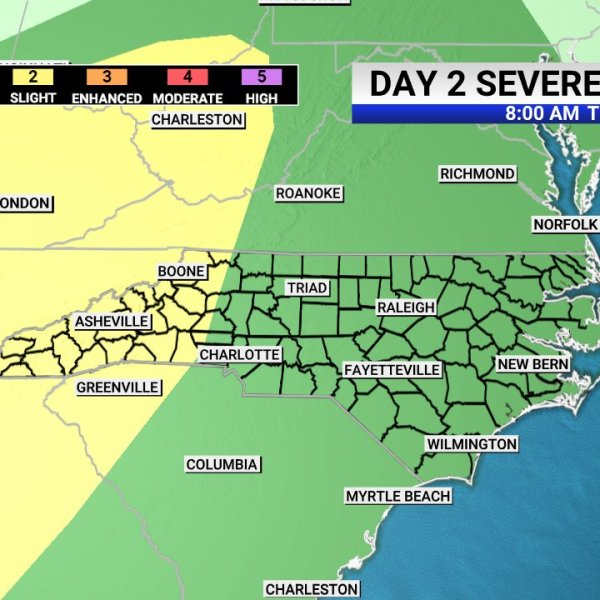 Triad under risk for severe storms throughout Tuesday afternoon
