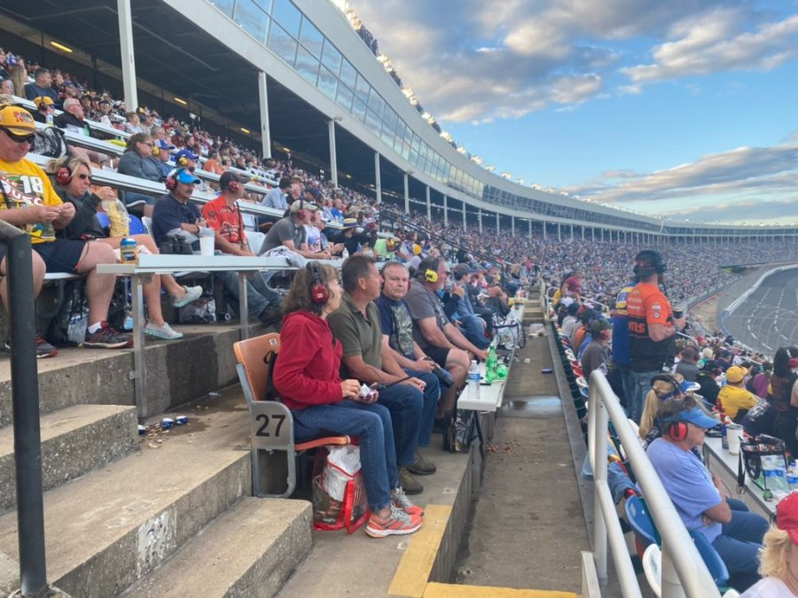 It is estimated that over 50,000 people from all 50 states are attending the race, making it the largest spectator event in North Carolina since the start of the pandemic.