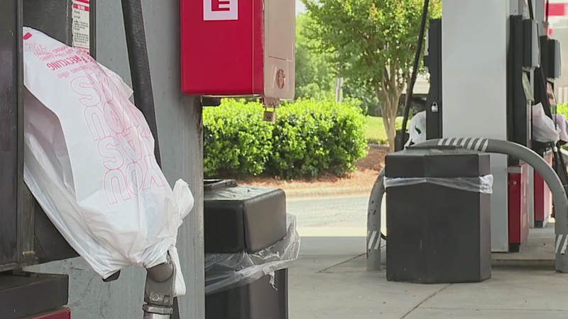 Triad gas stations, drivers feeling the effects of Colonial Pipeline shutdown