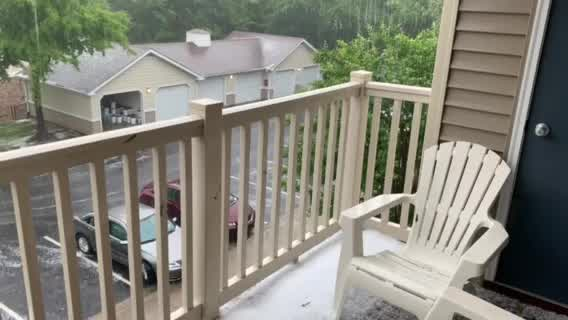 Video shows torrential hail as severe storm moves through Greensboro