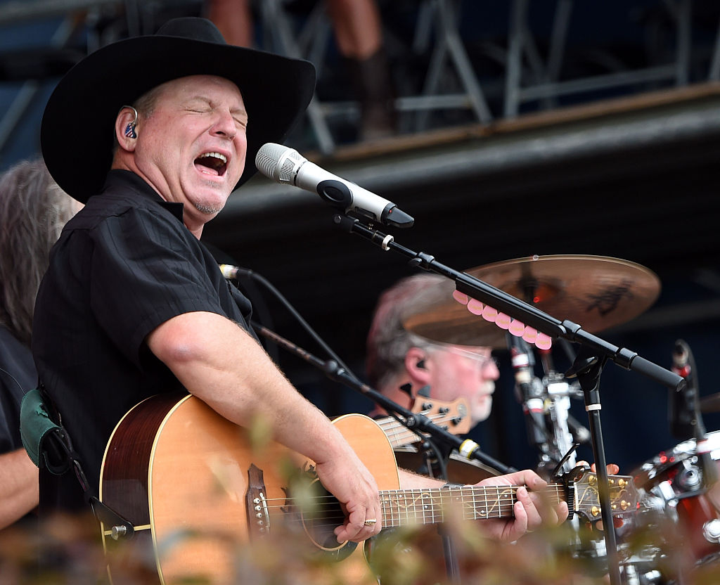 TWIN LAKES, WI - JULY 26: Singer/Songwriter John Michael Montgomery performs at Country Thunder - Day 4 In Twin Lakes, Wisconsin on July 26, 2015 in Twin Lakes, Wisconsin. (Photo by Rick Diamond/Getty Images for Country Thunder)