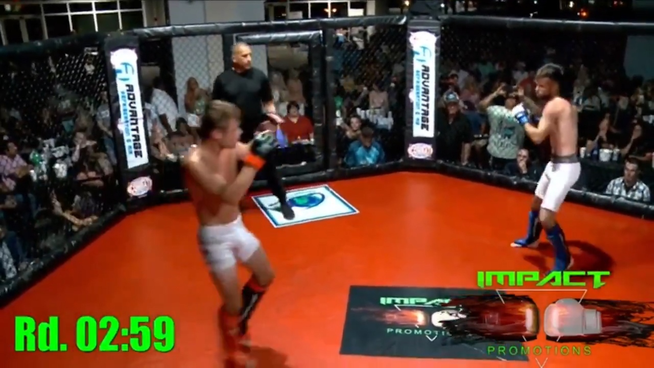 Video shows fighter's incredible knockout kick in first-ever MMA fight