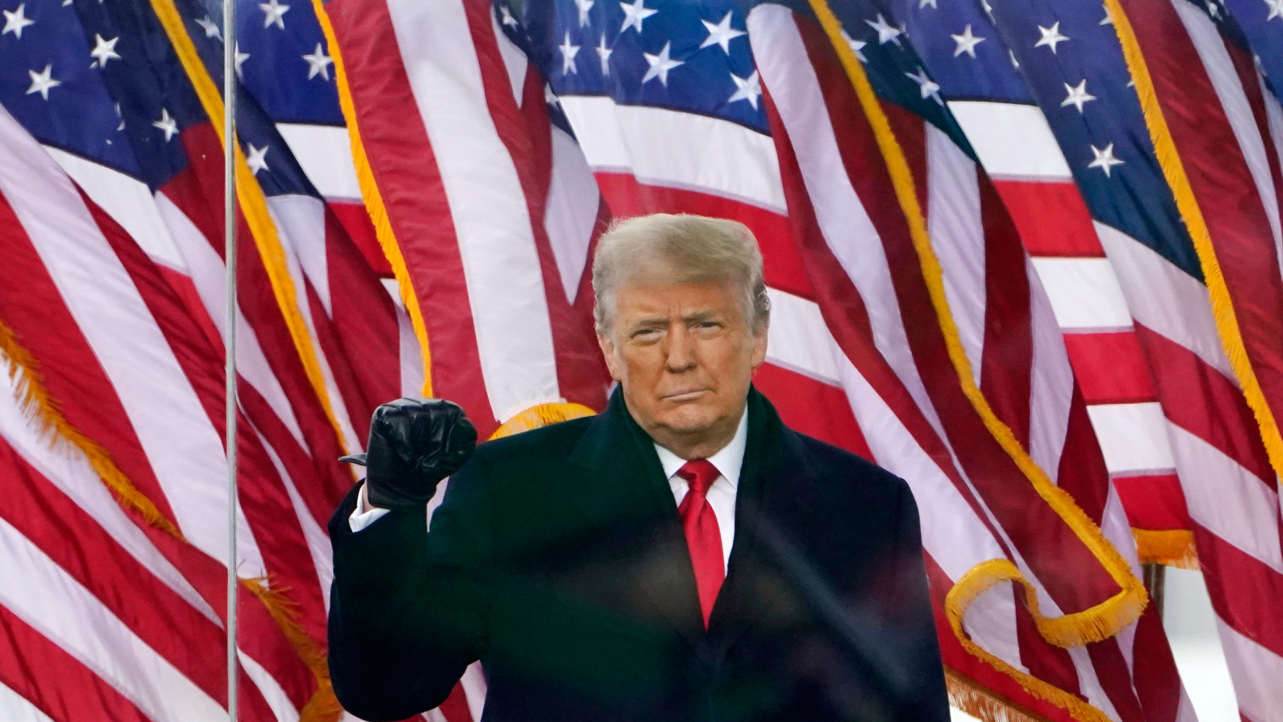 FILE - In this Jan. 6, 2021, file photo, President Donald Trump arrives to speak at a rally in Washington. (AP Photo/Jacquelyn Martin, File)