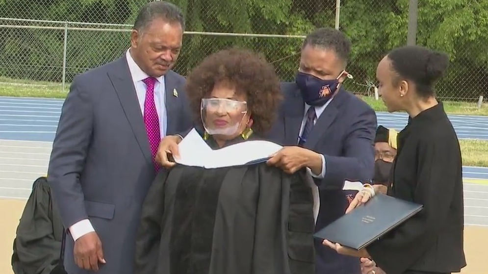 Jacqueline Jackson accepts honorary doctorate at North Carolina A&T State University; 'I want to make America better'