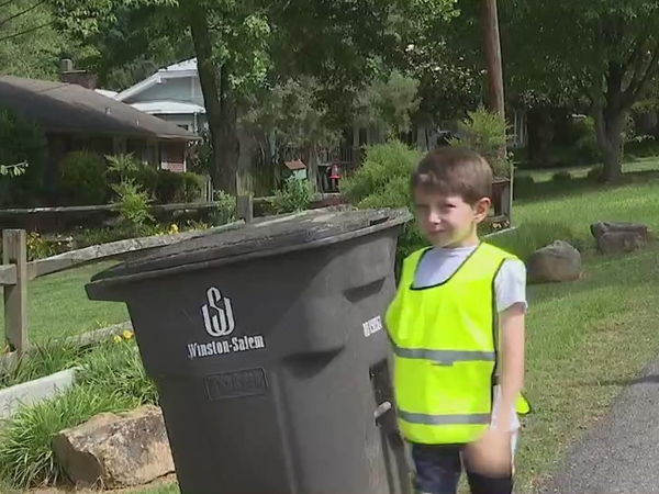'I'm good at helping': Winston-Salem 6-year-old has passion for helping neighbors keep trash, recycling organized