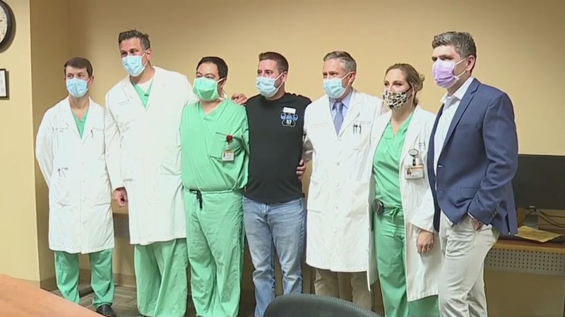 'Through God, they saved my life': Kernersville Police Officer Sean Houle personally thanks doctors and nurses who saved his life