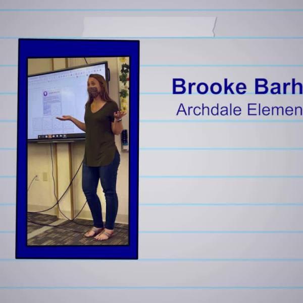 Brooke Barham is our Educator of the Week