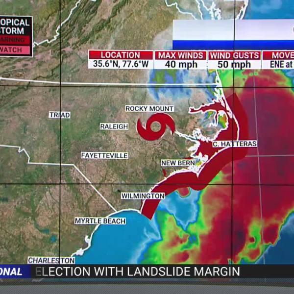 Tropical Storm Claudette Reforms