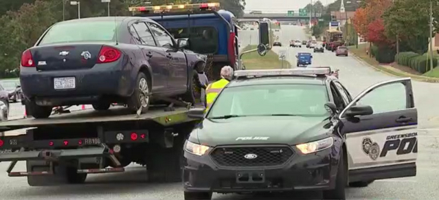 Greensboro mayor asks drivers to slow after police sergeant hit by van on Wendover Avenue