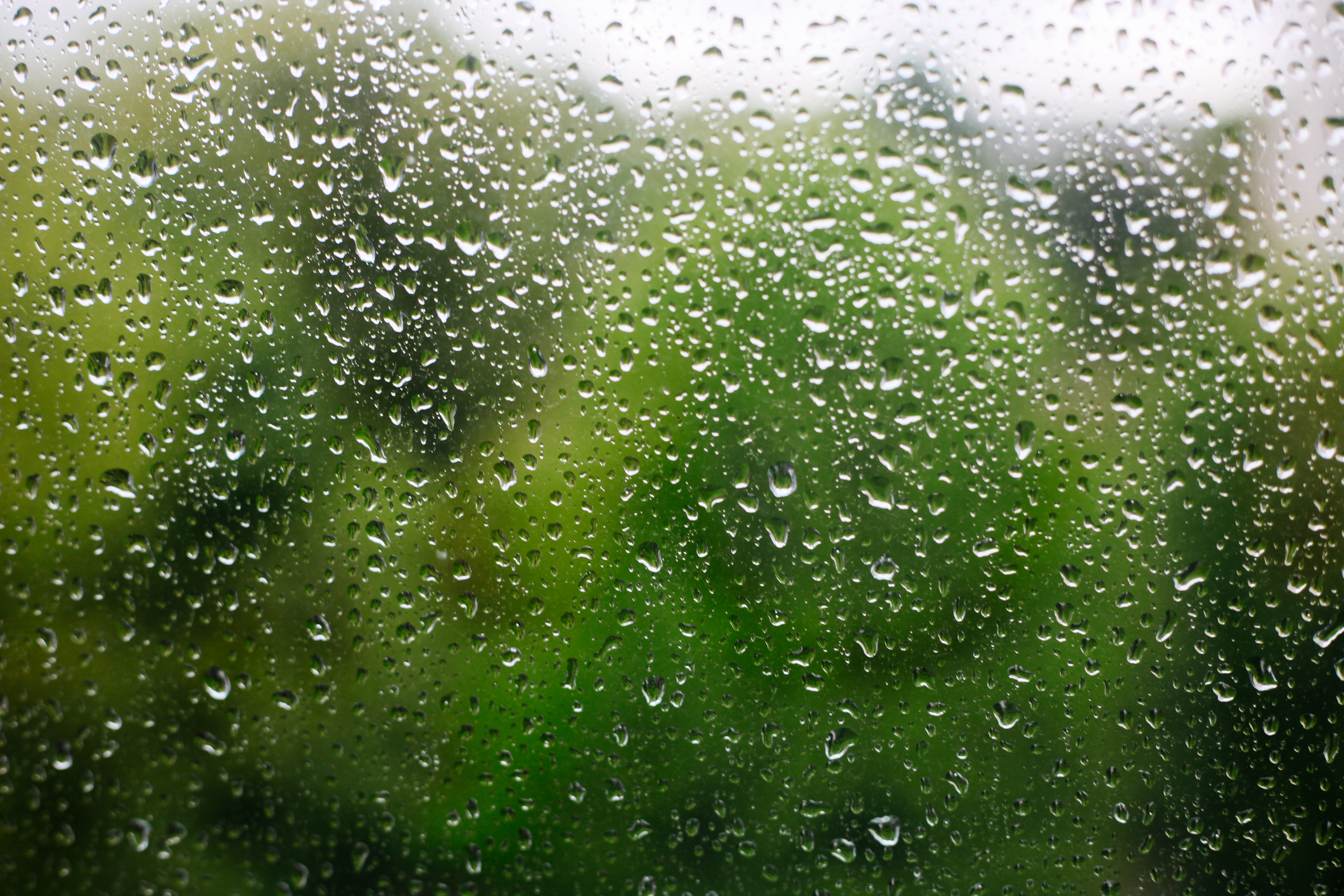 Close up of rain drops on window on the rainy day (Getty Images)