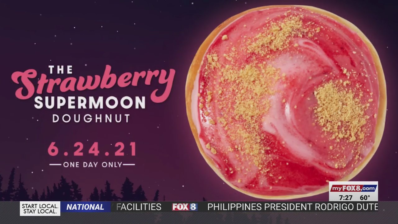 Is that a supermoon in the sky? No, it's a…doughnut? Krispy Kreme's out of this world special edition doughnut