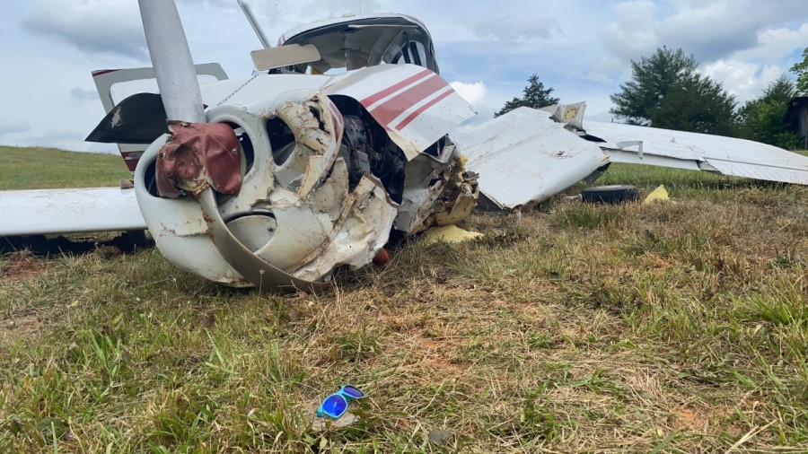Photos show small plane crash in Stokes County (Daryl Matthews/WGHP)