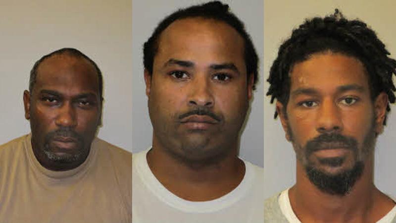 Timothy Lashon Eubanks, 42, of Siler City, Arsenio Lawon Smith, 33, of Siler City, and Anthony Tyrone Seymore, 30, of Sanford