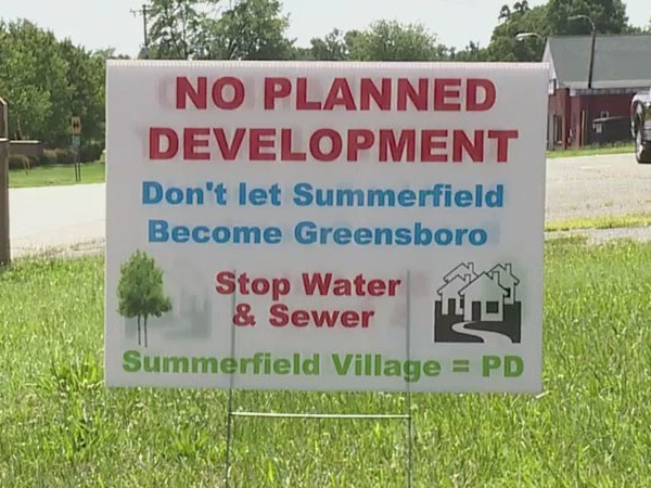 'Don't let Summerfield become Greensboro': Signs pop up across Summerfield in protest of development