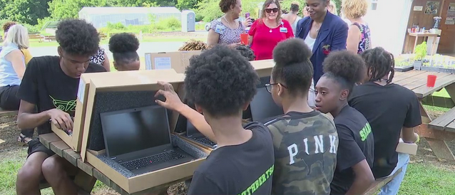 Guilford County teens receive surprise laptops, $100 gift cards