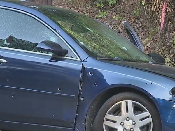 1 person taken to the hospital after shooting at Greensboro intersection leaves car riddled with bullet holes