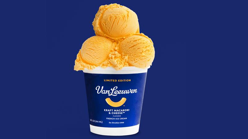 Kraft Macaroni and cheese-flavored ice cream (Courtesy of Van Leeuwen)