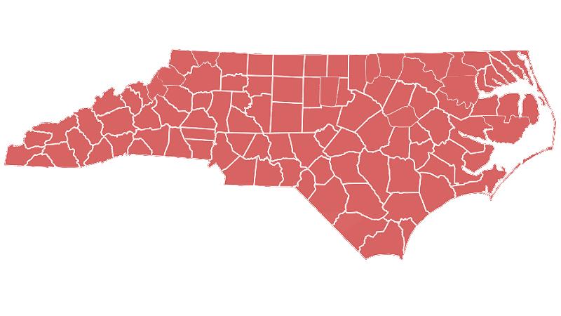 Copperhead range map (North Carolina Wildlife Resources Commission)