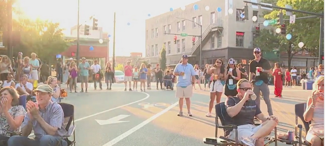 Hundreds filled downtown Greensboro for Wyndham Championship Kick Off Party