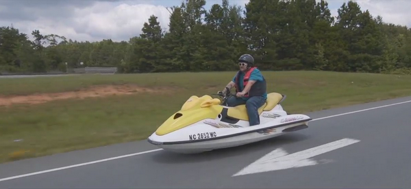 Davidson County man getting a lot of attention for 'boatercycle'