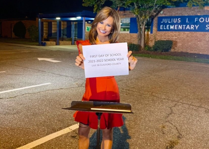 Lauren Crawford isn't heading back to school, but she's still excited for the first day back!