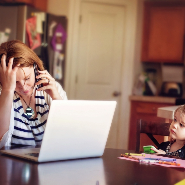 Stressed parent (Getty Images)