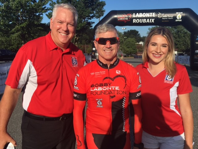 FOX8 sports team at the Bobby Labonte charity bike ride (credit :Timmy Hawks)