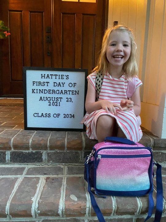 Katie Nordeen's little girl Hattie is off to her first day of Kindergarten!