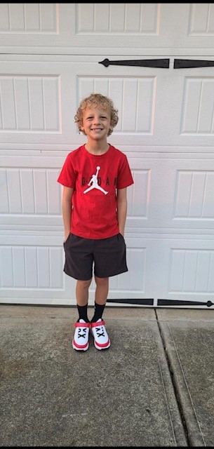 Spencer is starting his first day of 3rd grade at Trinity Elementary!