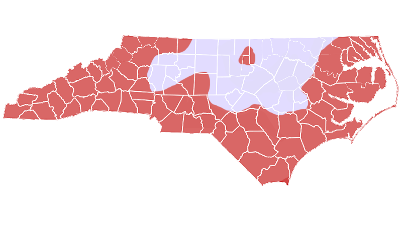 Timber Rattlesnake range map (North Carolina Wildlife Resources Commission)