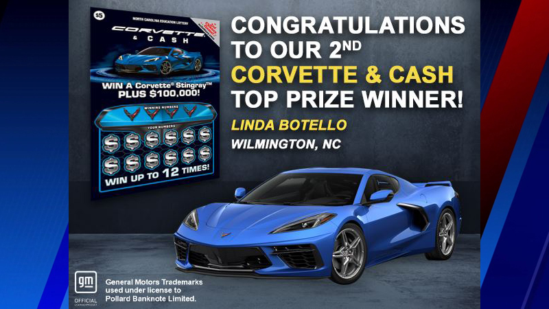 Wilmington woman wins Corvette, $100,000 after stopping to buy ice cream
