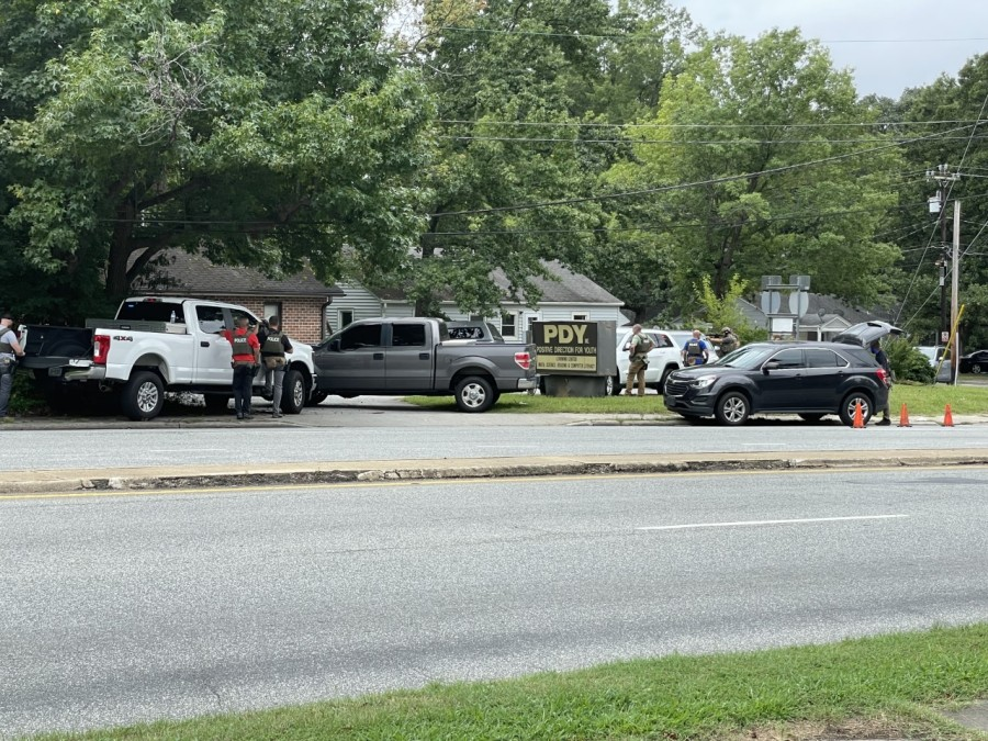 Greensboro police are on the scene of a standoff on Tuesday.