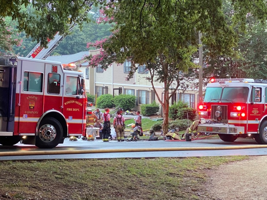 Winston-Salem apartment fire leaves 20 people looking for place to stay (Daryl Matthews/WGHP)