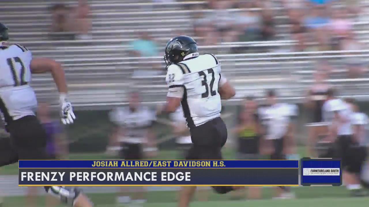 FOX8 Frenzy Performance Edge: East Davidson High School running back Josiah Allred