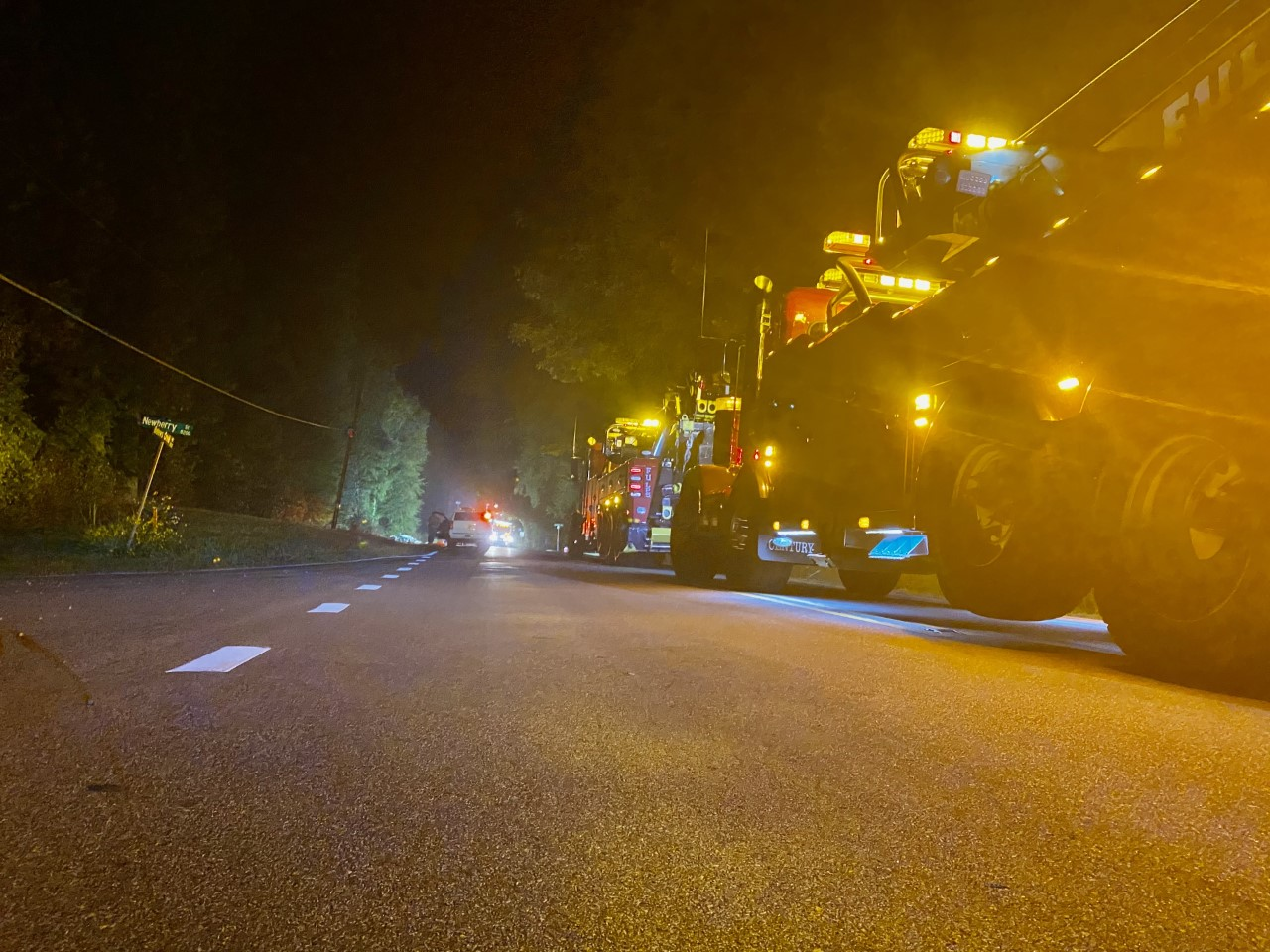 Clean-up continues into Tuesday after deadly Stokesdale crash involving tanker hauling 6,000 gallons of isobutyl acetate (Lauren Crawford/WGHP)
