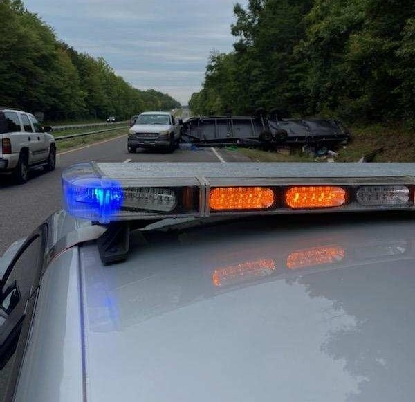 Crash on US 421 in Forsyth County (Courtesy of the Forsyth County Sheriff's Office)