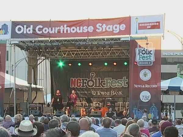 People gather for first day of National Folk Festival in downtown Greensboro