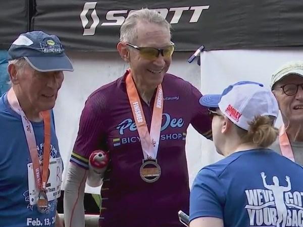 Trio of men in their 80s impress, inspire at Smiley Sprint Triathlon in Clemmons