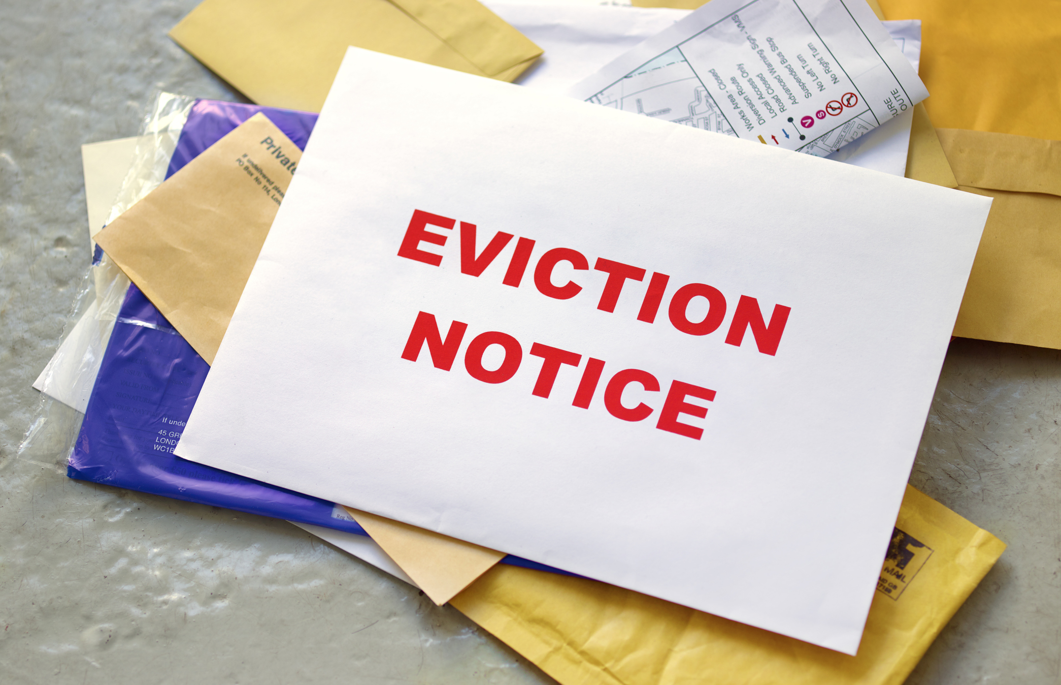 Eviction notice (Getty images)