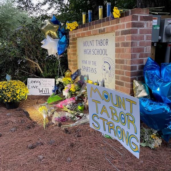 Memorial outside Mount Tabor