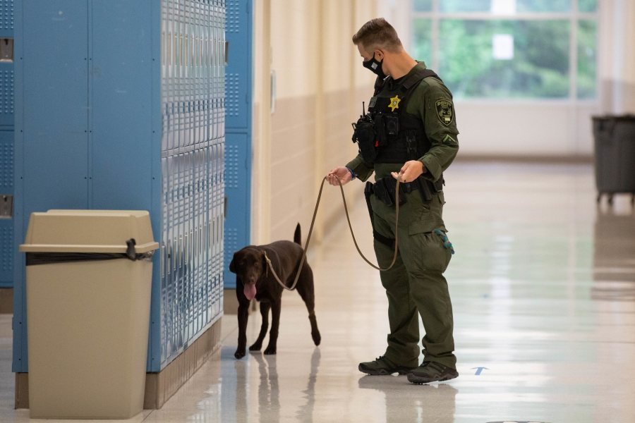 The Forsyth County Sheriff's Office (FCSO) announces that K9 Hondo is actively working with Winston-Salem/Forsyth County Schools