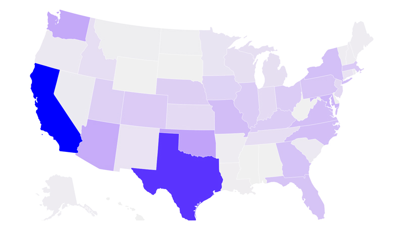Interactive map: Where Afghan refugees are headed in the U.S. by state