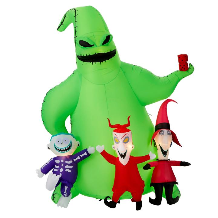 9 ft. Oogie Boogie with Lock, Shock and Barrel airblown Disney Halloween inflatable