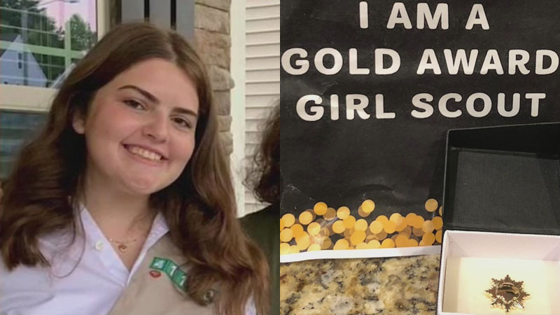 Triad college student earns Girl Scout Gold Award for project helping high school students with mental health issues