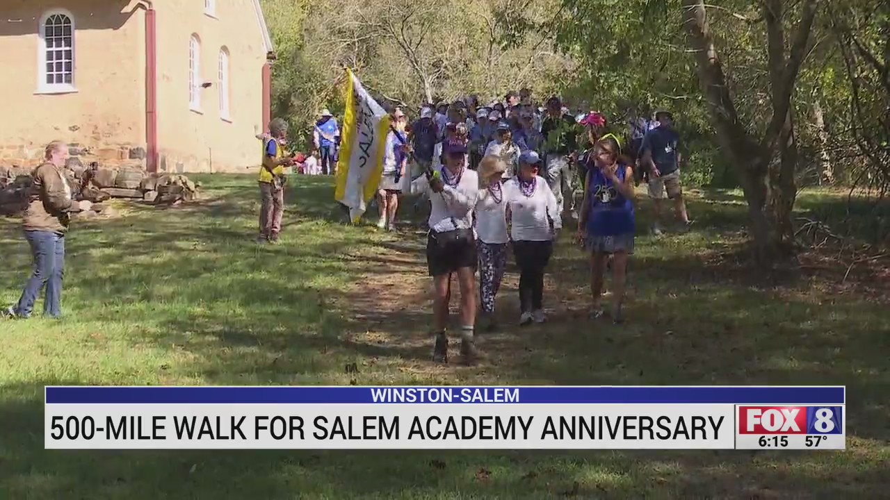 Group celebrates 250 years of Salem Academy and College with 29-day walk